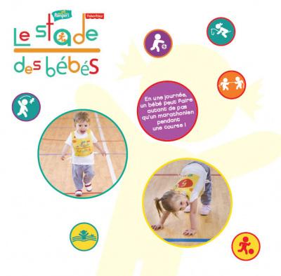 le stade des bébés, pampers, fisher price, 6 et 7 juillet 2012