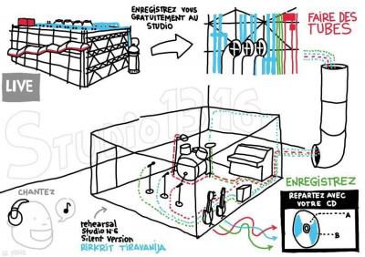 On Air Centre Pompidou, installation On Air Centre Pompidou été 2012, studio enregistrement On Air Pompidou, installation ado Centre Pompidou été 2012   On Air ©Le Tone/www.talkiewalkie.tw