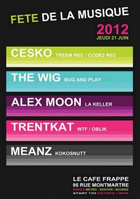 La Fête de la Musique 2012 au Cfé Frappé, rue Montmartre