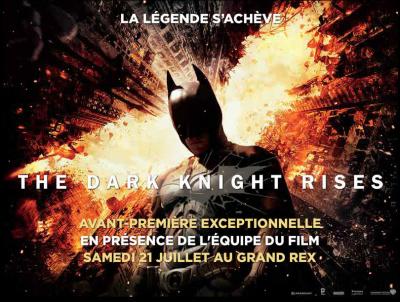 The Dark Night Rises en avant-première au Grand Rex avec l'équipe du film