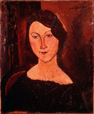 modogliani, jeune femme au corsage noir