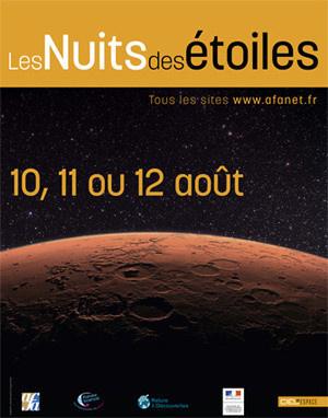 Nuits des étoiles 2012, nuit des étoiles 2012