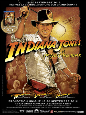 nuit indiana jones au max linder, affiche indiana jones