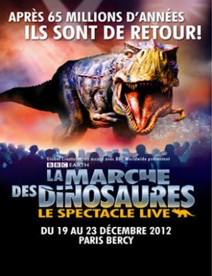 La Marche des Dinosaures de retour à Paris-Bercy pour Noël 2012
