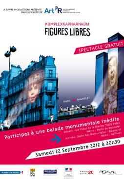 Figures libres, le spectacle gratuit de Paris à Bagnolet