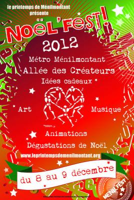 Noël'Fest 2012, l'allée des créateurs de Ménilmontant