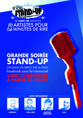 stand up 16e ciel, 16ème ciel, one man show