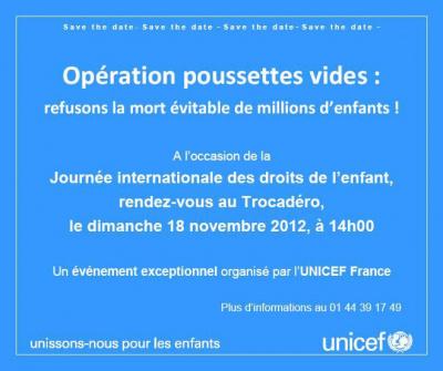 Rassemblement au Trocadéro pour les droits de l'enfant : Opération Poussette vides