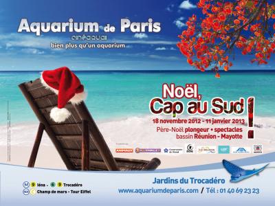 aquarium de paris, noel 2012, cap au sud