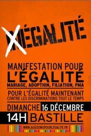 Manifestation pour l'égalité à la Bastille