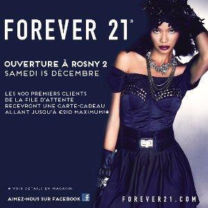 Inauguration de la boutique Forever 21 à Rosny 2 avec Lorie