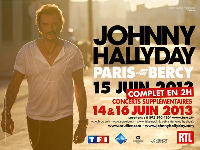 Johnny Hallyday en concert à Paris Bercy 2013, dates supplémentaires