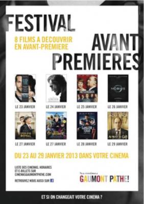 Le Festival avant-premières 2013 des cinémas Gaumont et Pathé