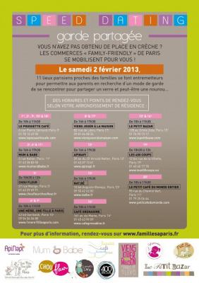 Le Speed Dating des garde partagée à Paris