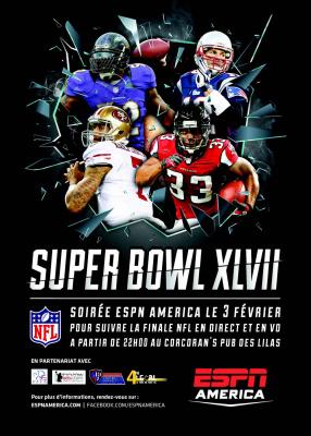Soirée Super Bowl 2013 au Corcoran's Pub