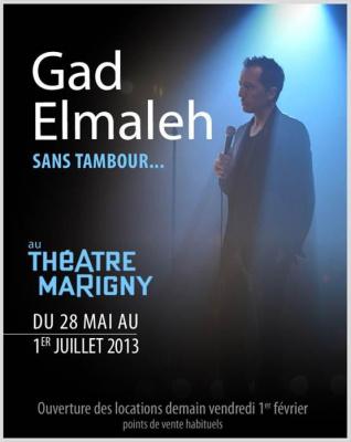 Gad Elmaleh au Théâtre Marigny