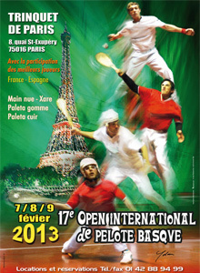 Open International de Pelote Basque à Paris 2013