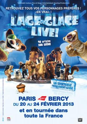 L'Age de Glace Live à Paris Bercy