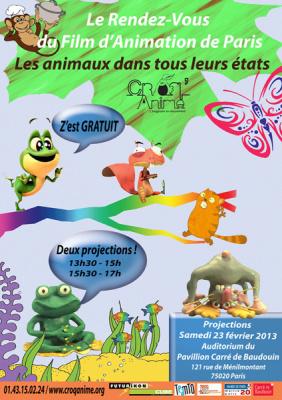 Le Rendez-vous du Film d'Animation paris, croq'anime, 2013