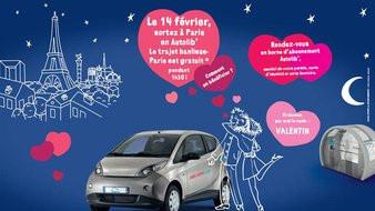 Autolib gratuit pour la Saint Valentin