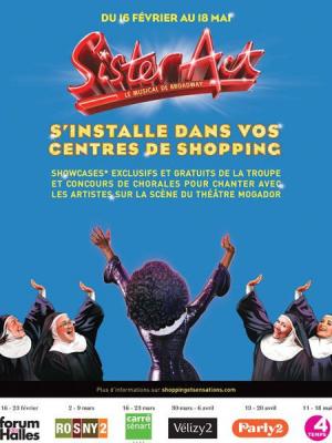 Sister Act s'invite dans les centres de Shopping d'Ile de France