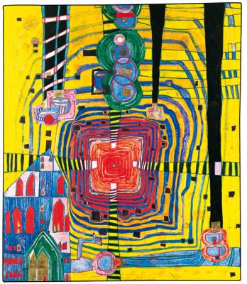 Dans la peau d'Hundertwasser au Musée en Herbe