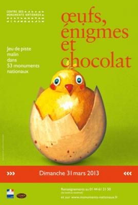 Pâques dans les Monuments Nationaux : Oeufs, énigmes et chocolat 2013