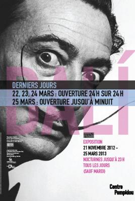 Salvador Dalí, 24h/24h au Centre Pompidou pour les derniers jours