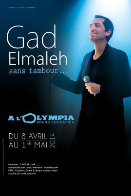 """Gad Elmaleh et son spectacle """"Sans Tambour"""" à l'Olympia"""