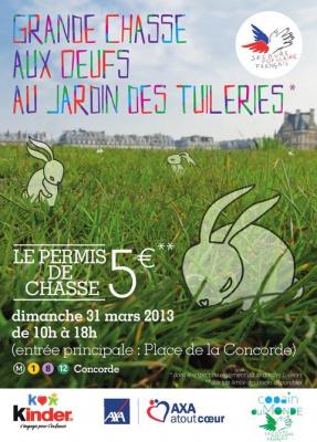 La Chasse aux oeufs de Pâques du Jardin des Tuileries 2013