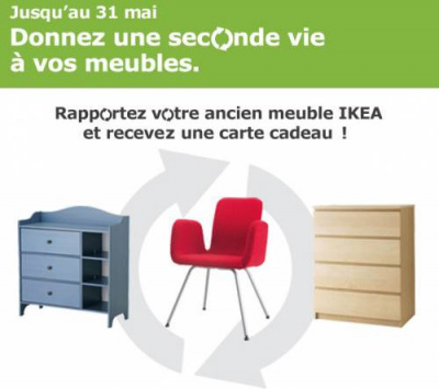 ikea reprend vos meubles contre des bons d 39 achat pour leur donner une seconde vie. Black Bedroom Furniture Sets. Home Design Ideas