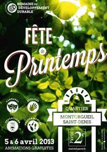 La Fête du Printemps 2013 quartier Montorgueil-Saint-Denis à Paris