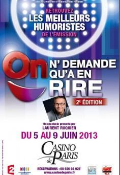 On n'demande qu'à en rire, le spectacle 2013 au Casino de Paris