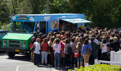 caion ben & jerry's, glaces gratuites