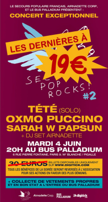 Secours Pop Rocks #2 au Bus Palladium avec Oxmo Puccino