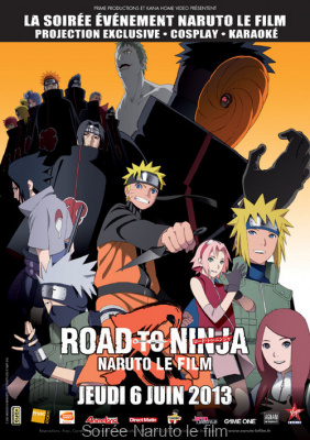 "Soirée Naruto, le Film ""Road to Ninja"" à Paris"