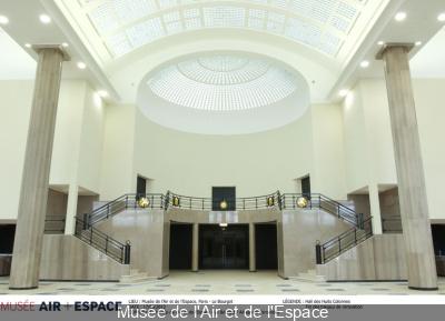salle des huit colonnes du musée de l'air et de l'espace