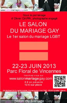 Salon du Mariage Gay au Parc Floral de Paris