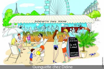 la Guinguette chez Didine aux Tuileries