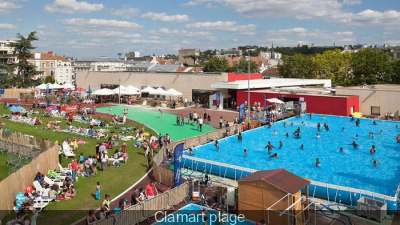 Clamart plage 2014 for Clamart piscine