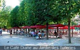 Le caf diane au jardin des tuileries - Jardin des tuileries restaurant ...