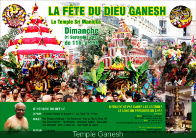 Fête du dieu Ganesh à Paris