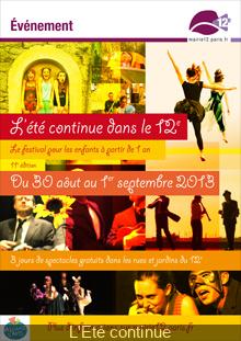 Le Festival l'Eté continue dans le 12e