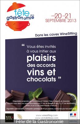 Fête de la Gastronomie 2013 : Dégustation Vins et Chocolats