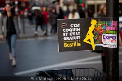 Sex in the city 2013, l'Expo à la Bastille par Solidarité Sida