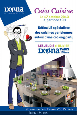 les cours de cuisine gratuit d 39 ixina paris. Black Bedroom Furniture Sets. Home Design Ideas