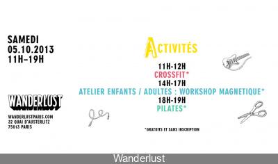 Les Ateliers gratuits du Wanderlust du 4 octobre 2013