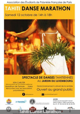 Marathon de danse tahitienne au Jardin du Luxembourg