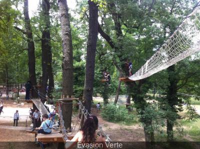Evasion verte, le parcours aventure du Parc Floral de Paris