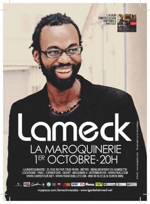 Lameck en concert à La Maroquinerie
